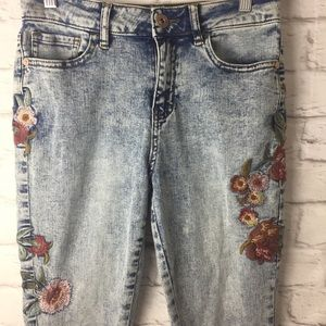 Hippie Laundry high rise skinny acid wash jeans